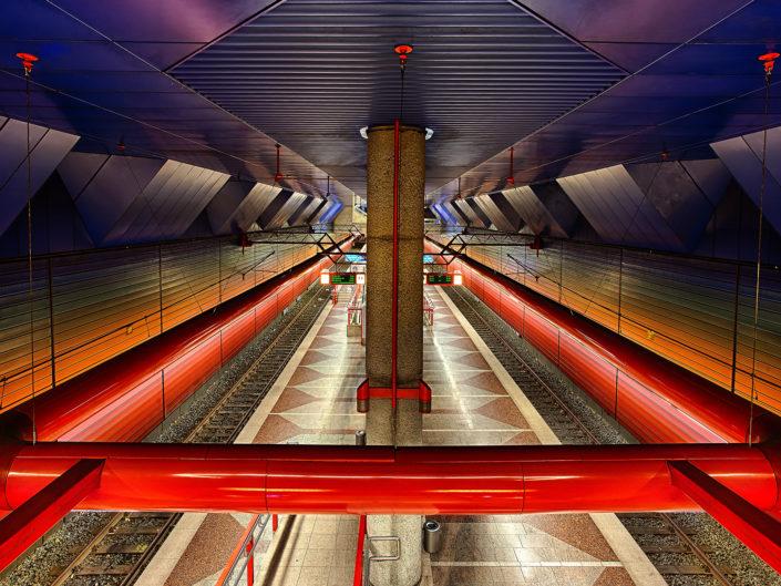 underground station duisburg central