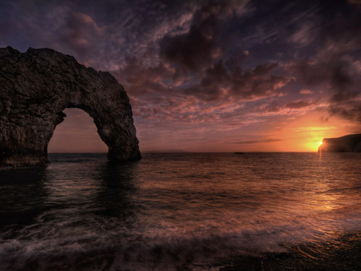 arc,durdle door, england