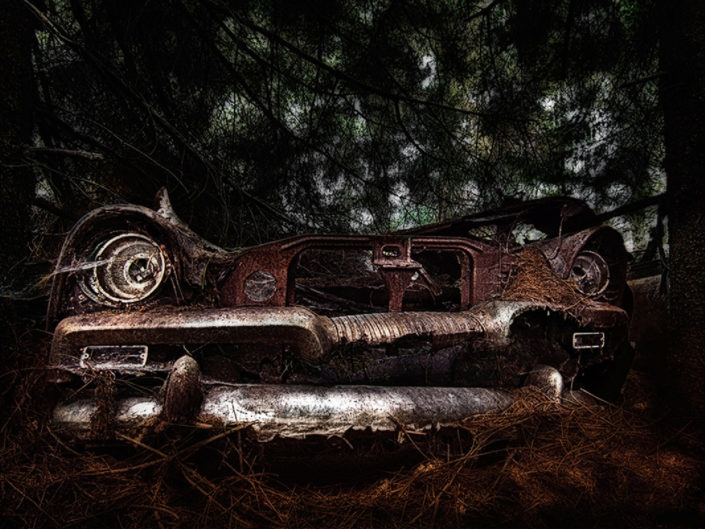 abandoned places,rotten us cars