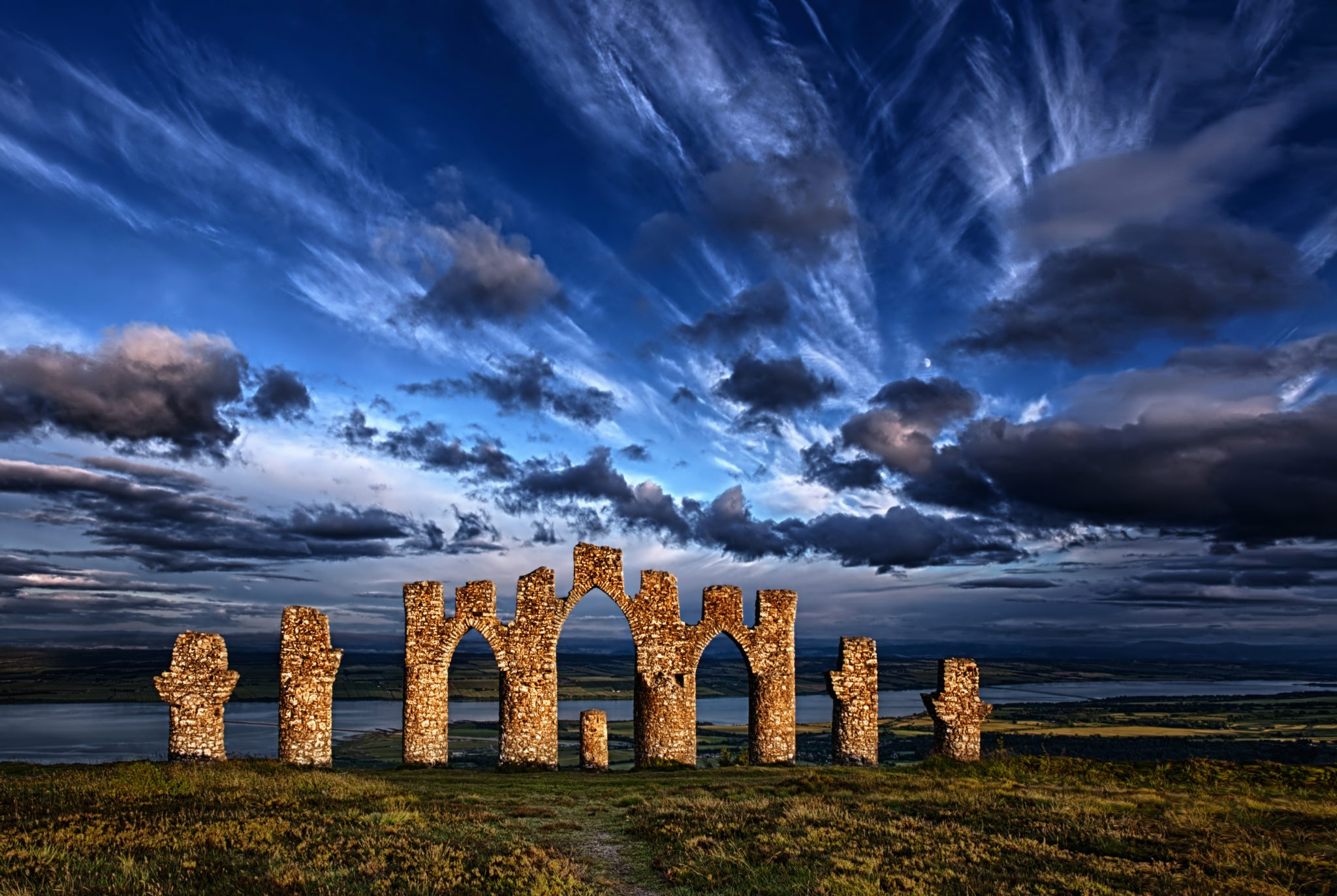 fyrish monument, landmark,Scotland